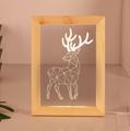Valentine's Day Gifts Wooden 3D led Photo Frame desk lamp Night Light 4