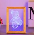 Valentine's Day Gifts Wooden 3D led Photo Frame desk lamp Night Light 5