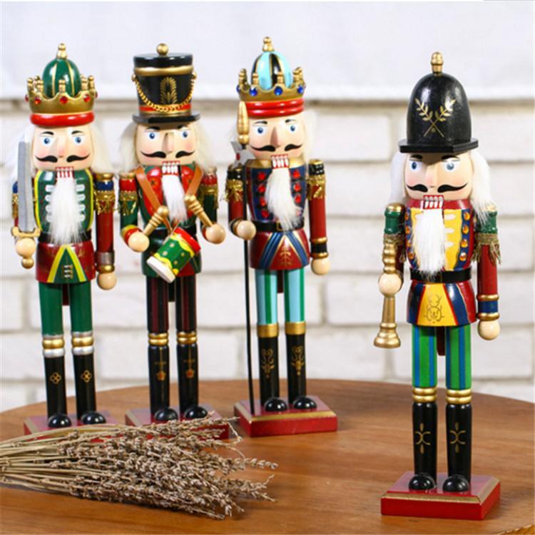 25cm 30cm 38cm wooden nutcracker soldier Figures 1
