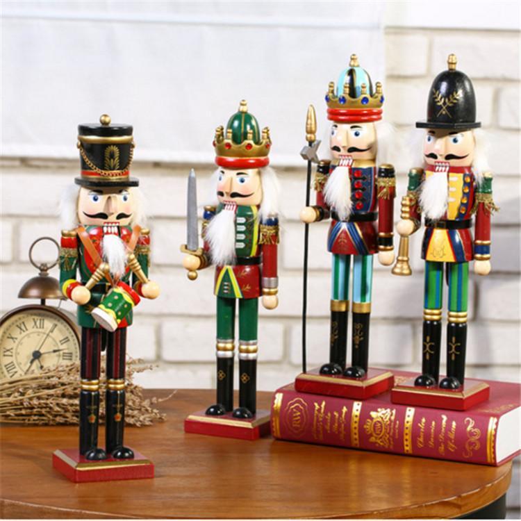 25cm 30cm 38cm wooden nutcracker soldier Figures 3