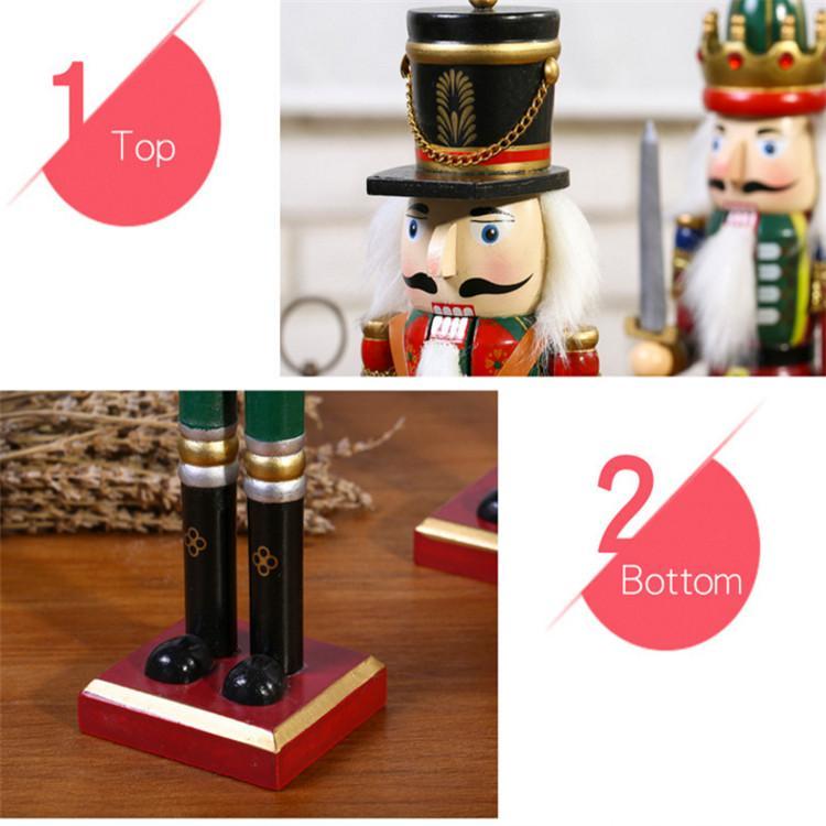 25cm 30cm 38cm wooden nutcracker soldier Figures 8