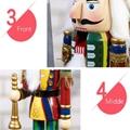 25cm 30cm 38cm wooden nutcracker soldier Figures 9