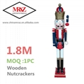 W1076 The wooden 6ft life size nutcracker soldier 2