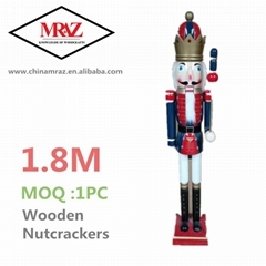 Promotional LARGE SIZE wooden 6ft life size nutcracker