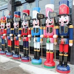 W1076 The wooden 6ft life size nutcracker soldier