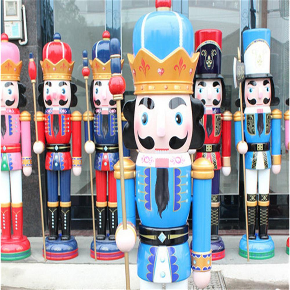 W1076 The wooden 6ft life size nutcracker soldier 3