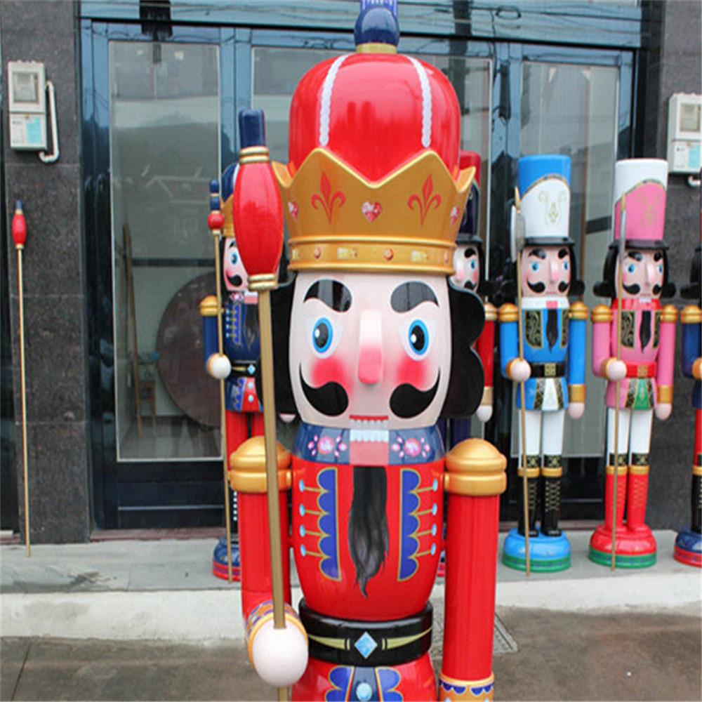 W1076 The wooden 6ft life size nutcracker soldier 4