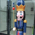 W1076 The wooden 6ft life size nutcracker soldier 6