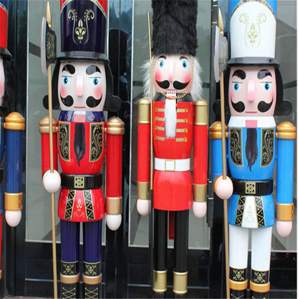 W1076 The wooden 6ft life size nutcracker soldier 7
