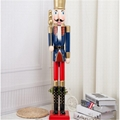 W1076 The wooden 6ft life size nutcracker soldier 10