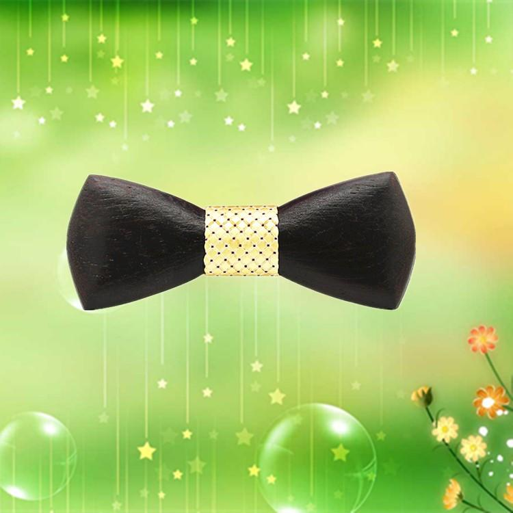 MBT220 business gifts fashion 3D customized checkenwood wooden bow tie for man 2