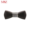 MBT220 business gifts fashion 3D customized checkenwood wooden bow tie for man 4