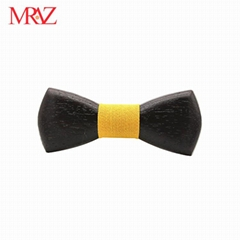 MBT220 business gifts fashion 3D customized checkenwood wooden bow tie for man