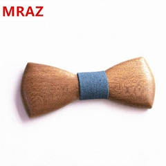 MBT230 fashion 3Dhandmade Sapele wood wooden bow tie for man