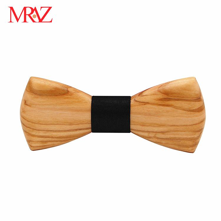 MBT230 fashion 3Dhandmade Sapele wood wooden bow tie for man 2