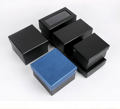 Fashion black cheap handmade cufflink tie package box gift box