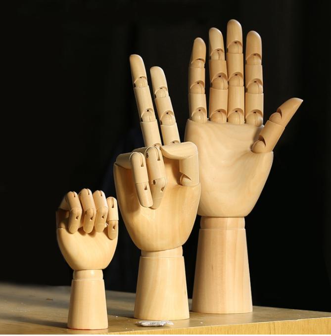 SPECIAL handmade wooden manikin hands  1