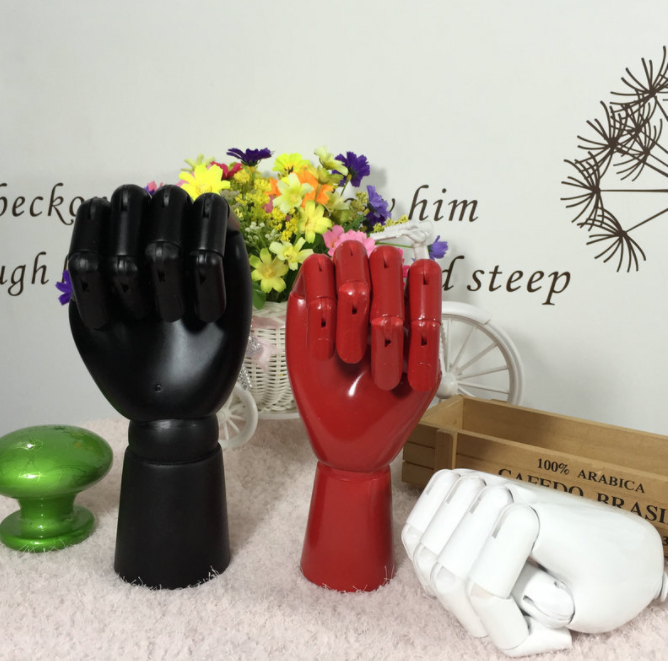 SPECIAL handmade colorful wooden manikin hands  4