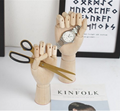 SPECIAL handmade colorful wooden manikin hands  6