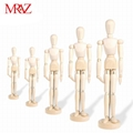 handmade colorful men blank wooden manikin
