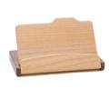 walnut wood Wooden business name card case holder