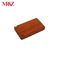 Wooden business name card case holder