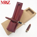 Wooden business gift pen box with pen  1