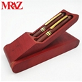 Wooden business gift pen box with pen  4