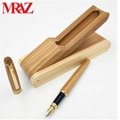 Wooden business gift pen box with pen