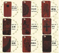 Popular laser design wooden mobile phone case holder