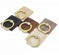 Popular new design wooden buckle ring for mobile phone