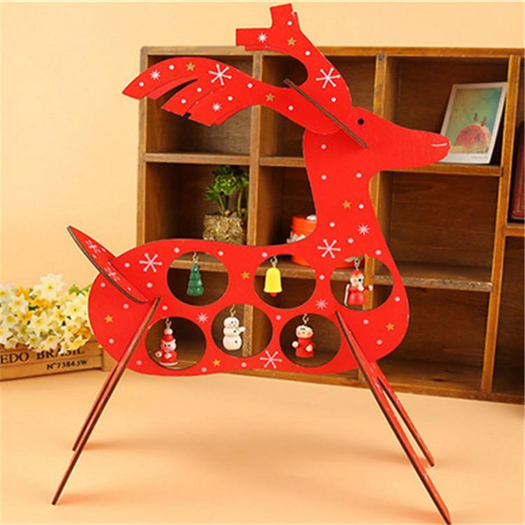 plywood laser cutting Christmas deer decoration