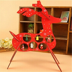 plywood laser cutting Christmas deer decoration