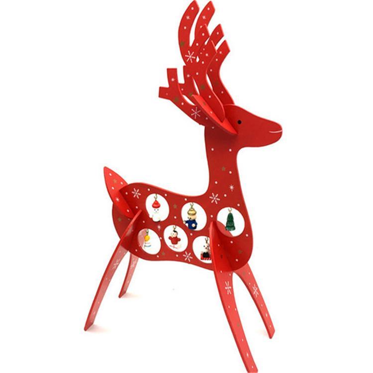 plywood laser cutting Christmas deer decoration 3