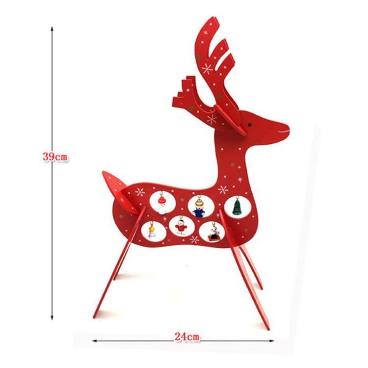 plywood laser cutting Christmas deer decoration 4