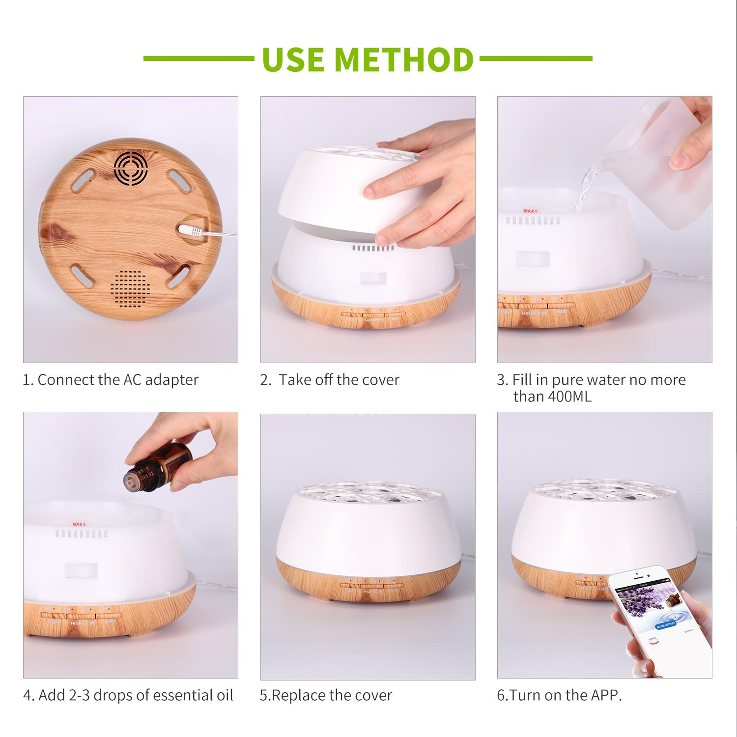 Popular aromatherapy air ultrasonic essential oil aroma diffuser 8