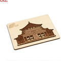 Plywood laser cutting Christmas tree decoration festival supplies wood card