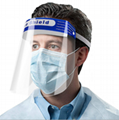 Disposable protective anti-fog face splash shield