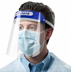 Disposable protective anti-fog face splash shield
