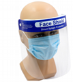 Double face shield visors against Protective Transparent face shield