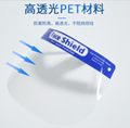 Factory Supply Disposable Clear Plastic outdoor Full Medical PET Face Shield