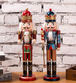 38cm Christmas wooden DIY custom nutcracker doll  1