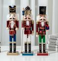 38cm Christmas wooden DIY custom nutcracker doll  3