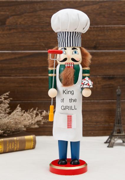 38cm Christmas wooden DIY custom nutcracker doll  4