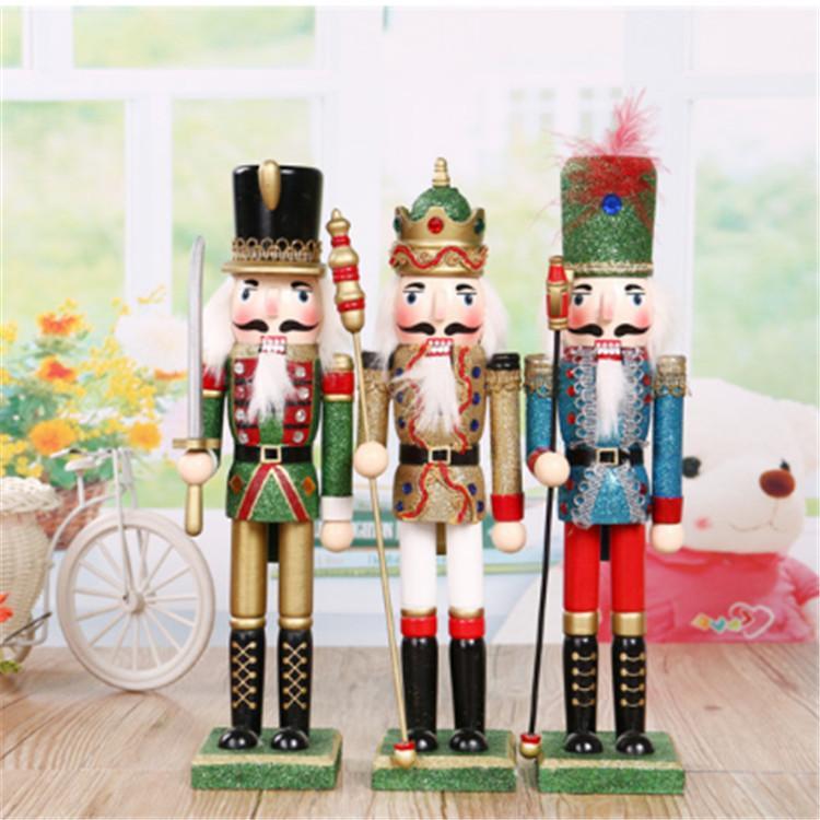 38cm Christmas wooden DIY custom nutcracker doll  5