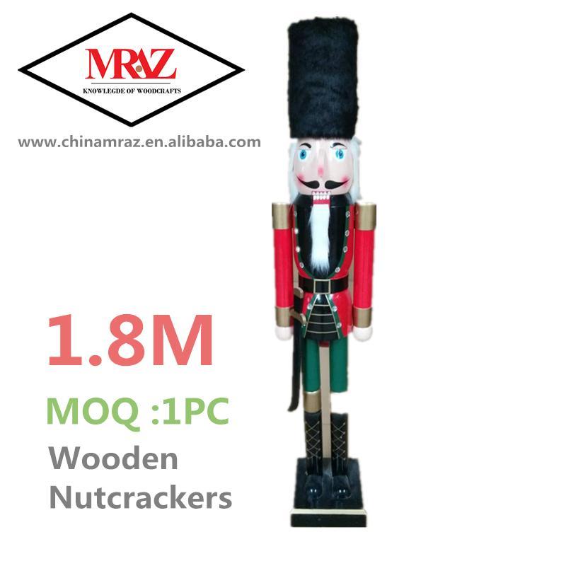 2021 120cm 150cm wooden 6 foot nutcracker for sale 1