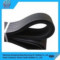 Industrial banded rubber v belt