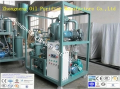 Double Stage Vacuum Insulating Oil Regeration Purifier Series ZYD