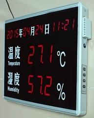 鐳彩  審訊專用溫濕度報警顯示屏