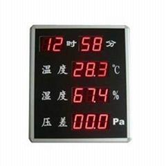 鐳彩 溫濕度壓差顯示屏